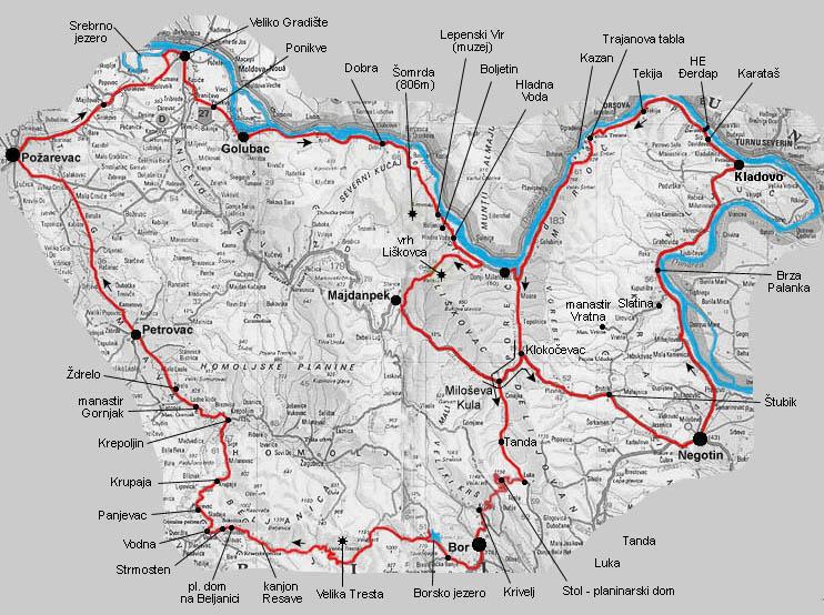 Mapa Istocne Srbije Superjoden