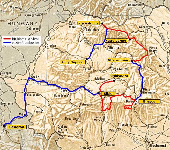 rumunija mapa KATRAN tura   Rumunija, mapa 2 rumunija mapa