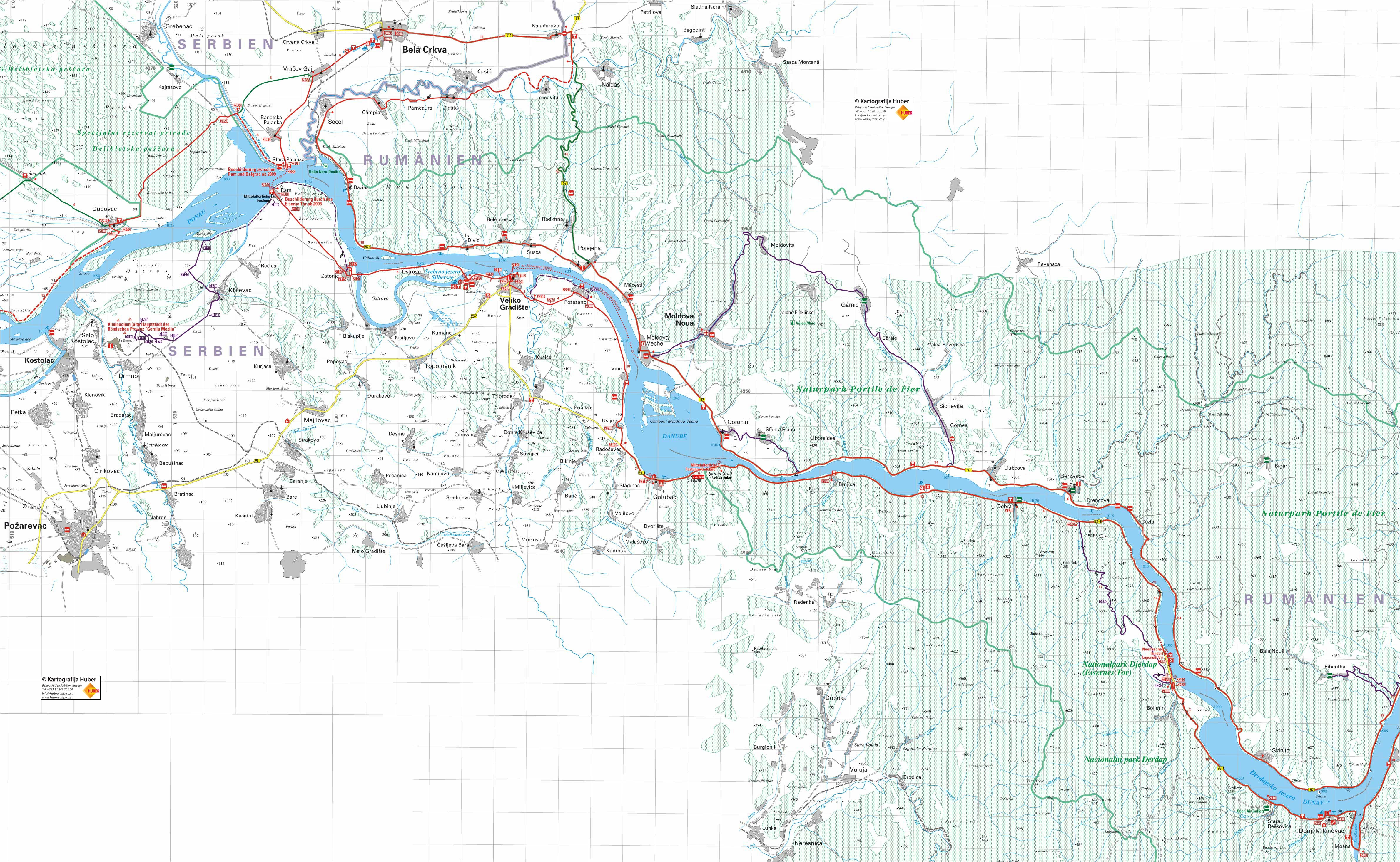 Dunav Deonica St Palanka Ram Srebrno Jez Veliko Gradiste