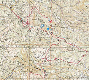 mapa srbije krupanj Drinske planine   karta za bicikliste mapa srbije krupanj