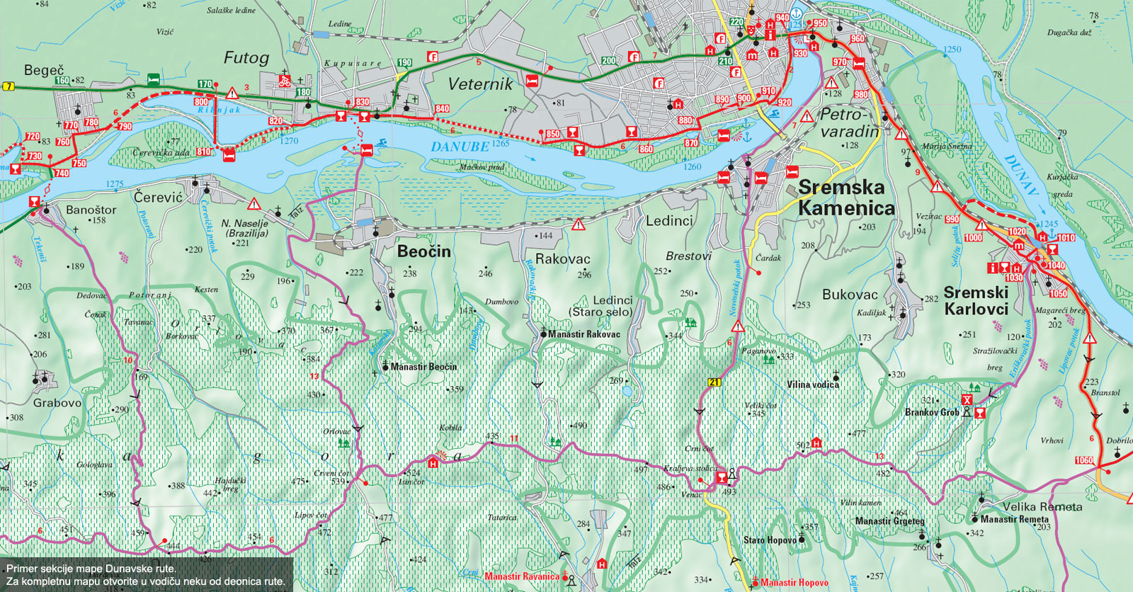 mapa srbije veliko gradiste Dunav   vodič mapa srbije veliko gradiste
