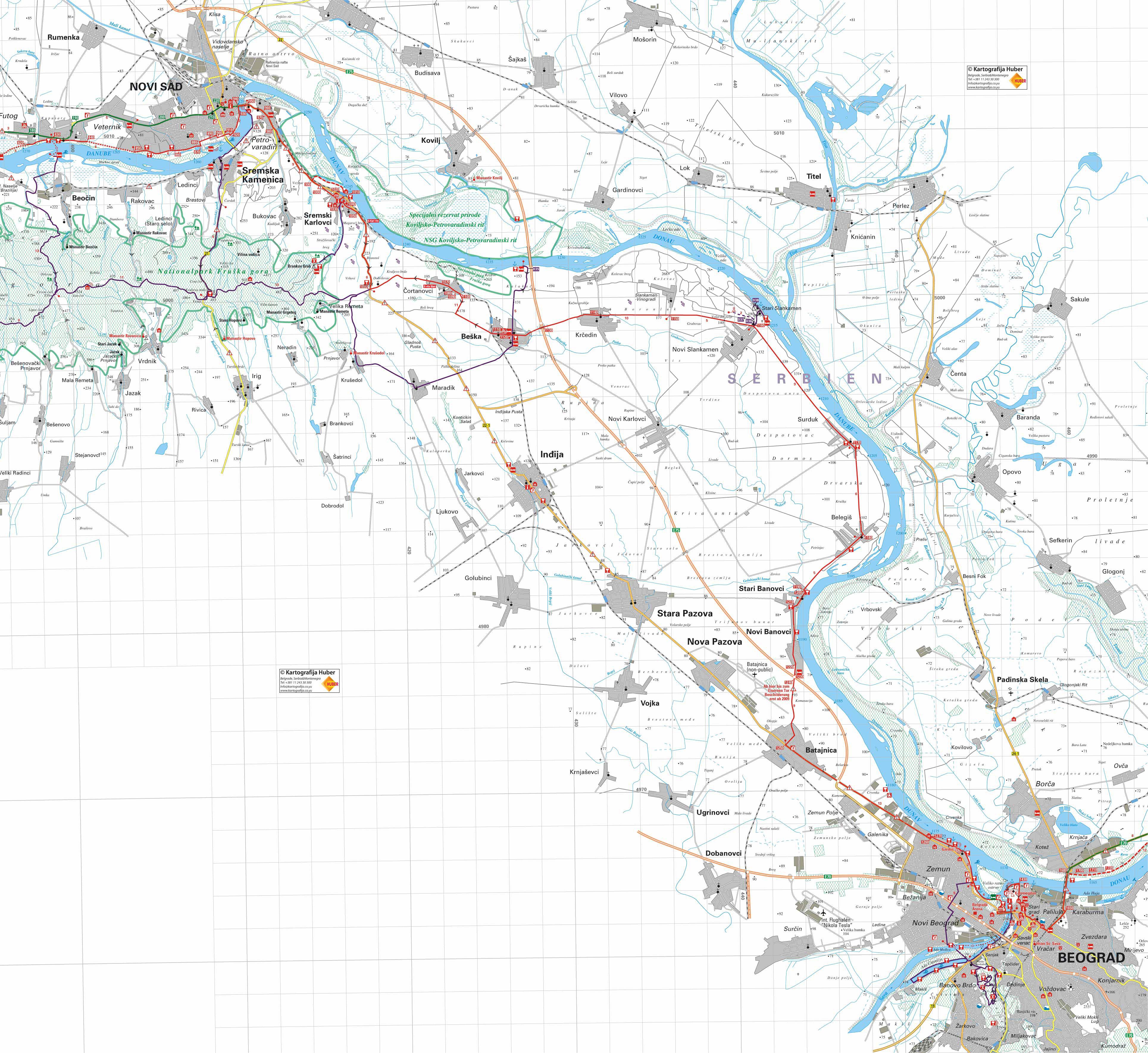 Mapa Beograda Najkraci Put Superjoden
