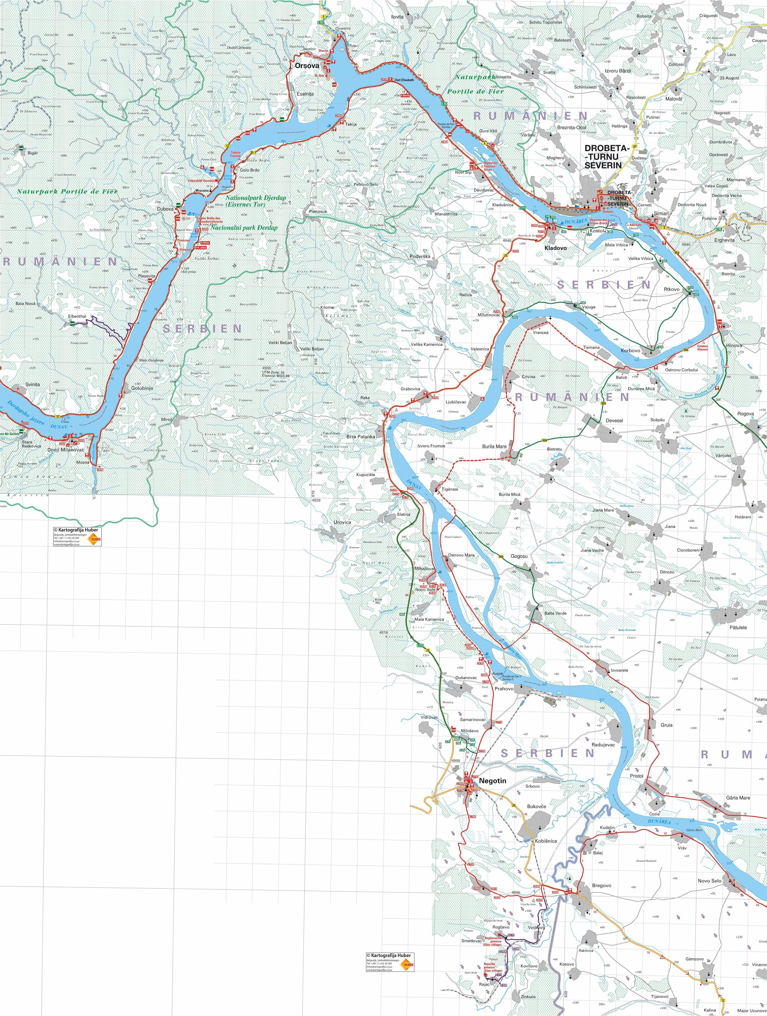 beograd kladovo mapa Dunav: deonica Donji Milanovac   Kladovo   Negotin   bugarska granica beograd kladovo mapa